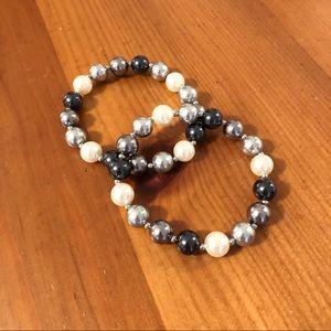 Talbots Pearl Bead Bracelet Set